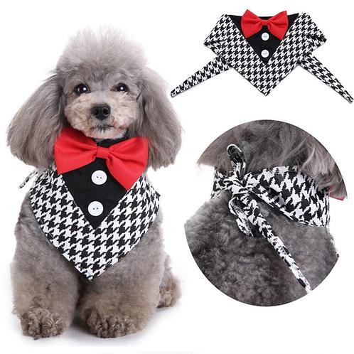 DogLemi 1pcs Tail Trends Formal Suit Pet Dog Bandana Scarf Collar Bow Tie