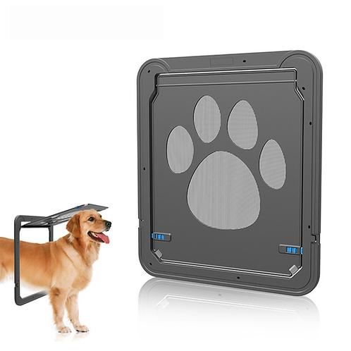 JY203 Black Pet Door for Screen Window Automatic Close Door for Dogs Cats