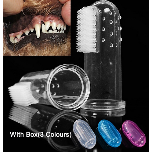 Soft Pet Finger Toothbrush with Box Silicone Teddy Dog Brush Addition Bad Breath