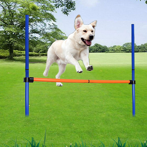 HSWLL Pet Supplies Dog Jumping rod Single Training Jumper Dog Outdoor Sports