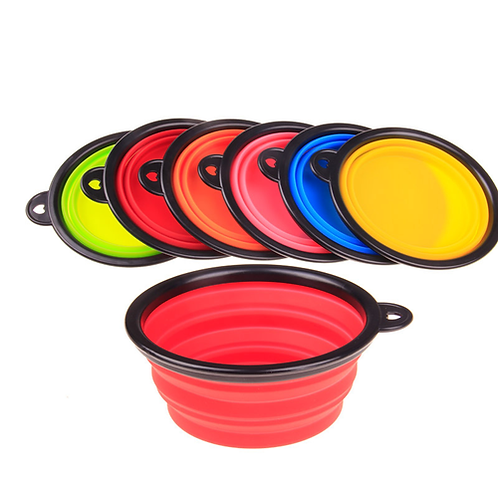 Foldable Dog Bowl Silicone Pet Food Bowls Collapsible Cats Feeder Small Pets