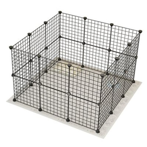 Pet Fence 35*35cm Iron Net Dog Cage Kennel Free Combination Dog Fence Puppy Hous