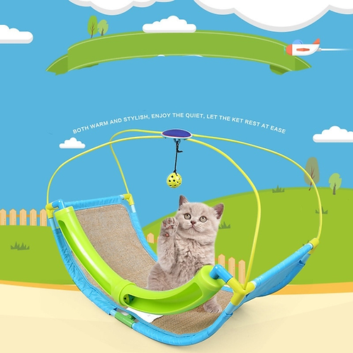 Cat Toys Hanging Hammock Bed for Pet Sleeping Napping for Kitty Cats Toy 60 x 33