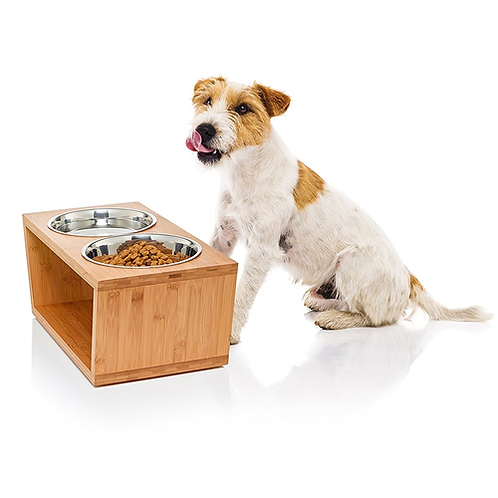 Premium Elevated Dog and Cat Pet Feeder Double Bowl Raised Stand Comes with