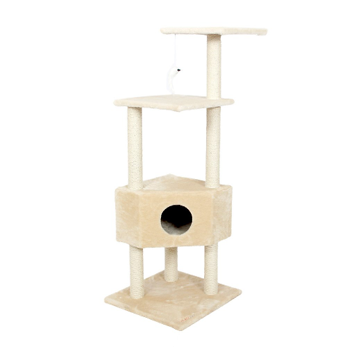 Domestic Delivery Cat Toy Scratching Wood Climbing Tree Cat Jumping Toy with Lad