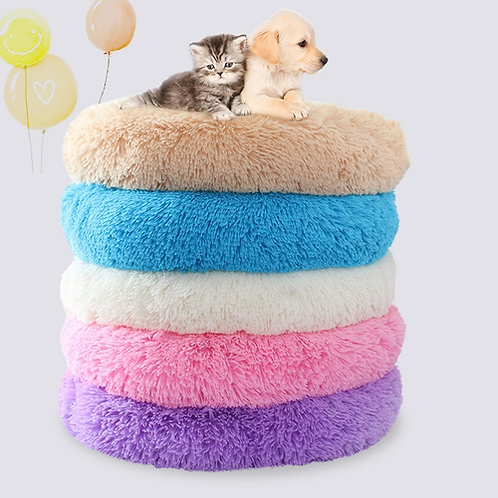 Breathable Round Pet Dog Beds Mats Winter Warming Washable Cat House Lounger