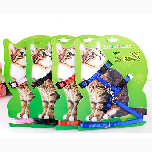 Nylon Colorful Cat Harness and leash Set for cat Small Pet Accessories Size S