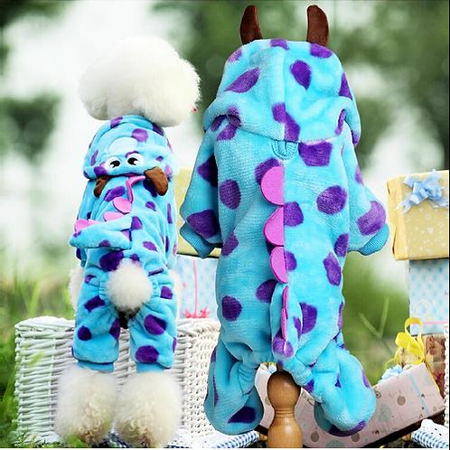 Soft Fleece Dog Cat Jumpsuit Halloween Coat Costumes Pet Overalls Puppy Cat Clot