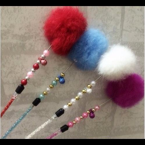 Real Rabbit Fur ball Fishing Stick (30 pcs)