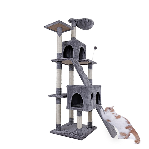 Domestic Delivery H182cm Cat Tree Tower Condo Furniture Scratch Post Cat Jumping