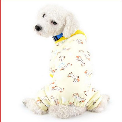 Zebra Print Dog Pajamas