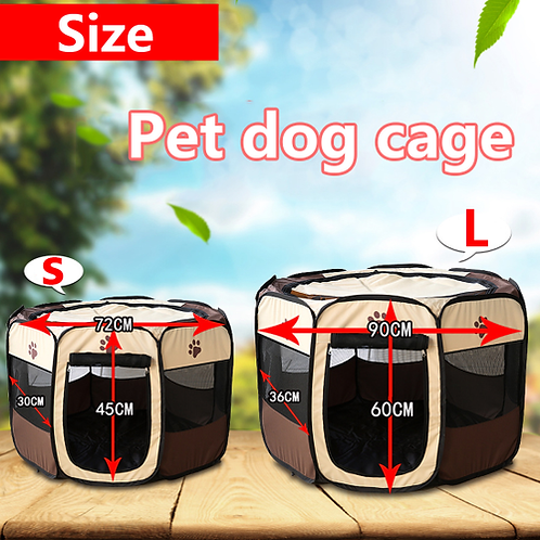 Dog Tent Portable Folding Pet tent Dog House Cage Dog Playpen Puppy Kennel Easy