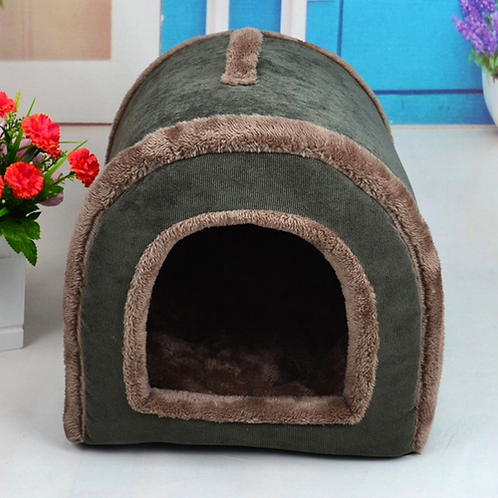 New Brand Corduroy Pet Bed Indoor Home Cat Dog House Cave Comfy Kitten Puppy