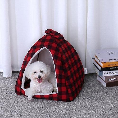 Pet Cats House Warm Soft Pet Bed Non-slip Bottom Cute Shape Cartoon Cat Bed For