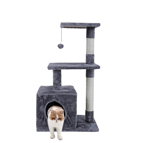 Domestic Delivery Cat Toy Scratching Wood Climbing Tree Mouse Toy Cat Jumping