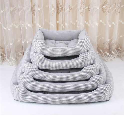 Pet Dog Bed Mats Stripped Pattern Detachable and Washable Dog Beds for Large Dog
