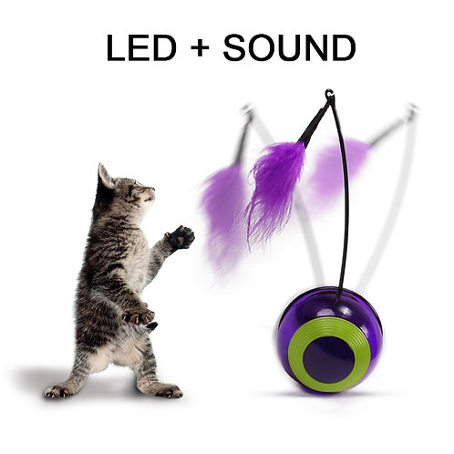 Electronic Motion Cat Toy Interactive Cat Toy Multi Function Automatic Cat Toy
