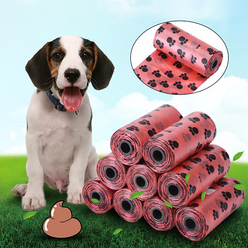 10Rolls/Pack Pet Dog Waste Poop Bags With Printing Degradable Puppy Pets Waste
