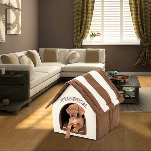 Dog House Portable Indoor Pet Bed Soft Warm and Comfortable