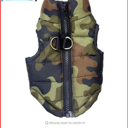 Waterproof Dog Coat Winter Puppy Clothes Camo Pattern