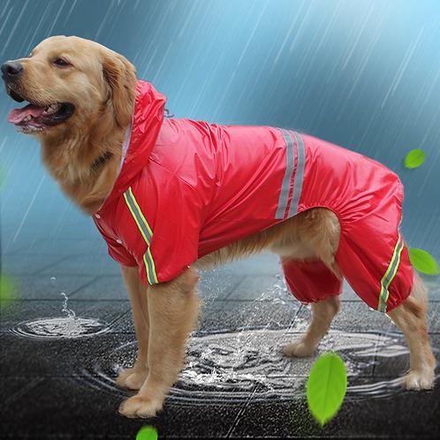 Dog Raincoat Pet Supplies Fashion Designed Hooded Large Size Dog Raincoat Puppy