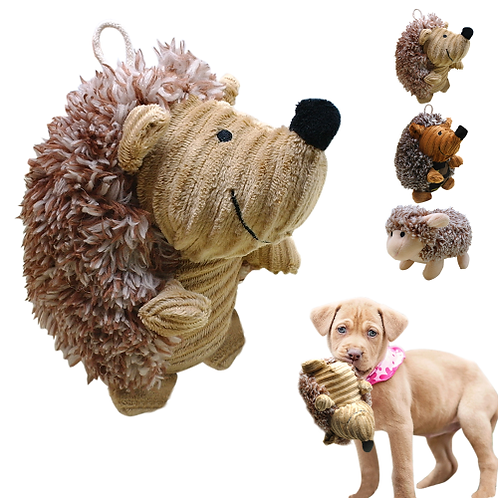 Dog Sound Toy Pet Cat Plush Toys Interactive Dogs Squeak Toys Hedgehog Sheep