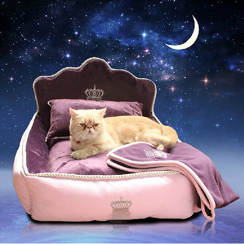 Luxury Princess Pet Bed With Pillow Blanket Dog Bed Cat Bed Mat Sofa Dog House