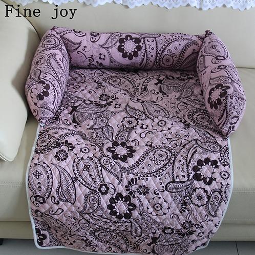 Fine joy Pet Beds Sofas Blanket Floral Print Multifunction Dog Mats Pet Car