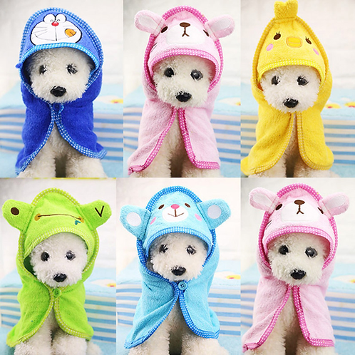Cute Pet Dog Towel Soft Drying Bath Pet Towel For Dog Cat Hoodies Puppy Super