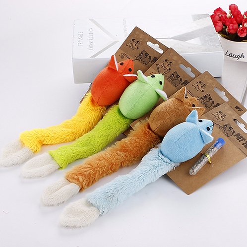 Pet Cats Toy Simulation Plush Mouse Combinations Pet Long Tail Cat Grass Contain