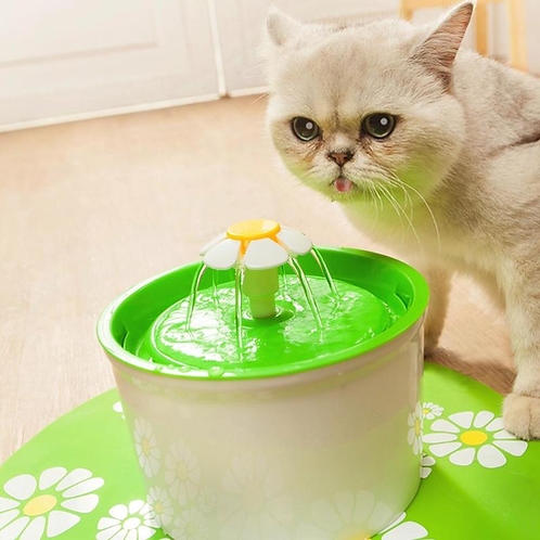 1.6L Automatic Cat Water Fountain Electric Mute Water Feeder Dog Pet Drinker Bow