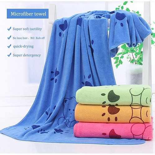 DOGIBILA 140*70cm Super-sized microfiber strong absorbing water bath pet towel