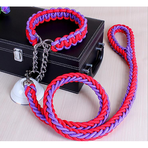 Double Strand Rope Large Dog Leashes Metal P Chain Buckle National Color Pet