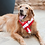 Thumbnail: Christmas Pet Scarf Winter Warm Stripe Scarf Pet Dress Adjustable Plush Soft