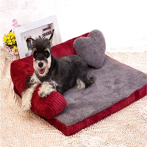 Sofa Backrest Dog Beds For Large Dogs With Pillow Dog House Waterproof Chihuahua