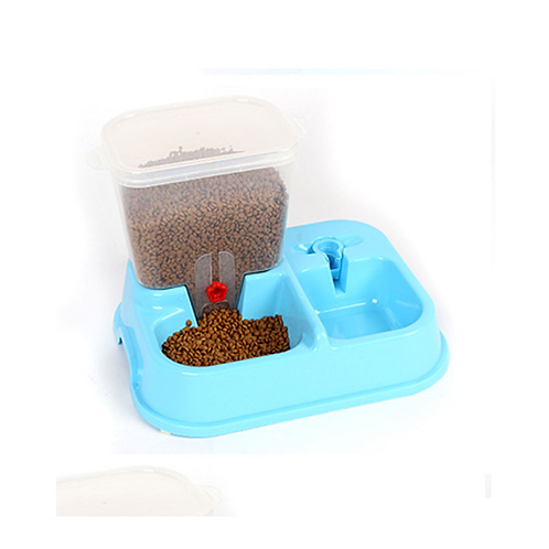 Huiyi Home Large Adjustable Automatic Pet Feeder Drinking Fountains Dog Bowl