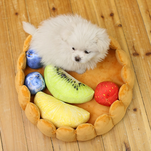Pet House Plush Cat Dog Fruit Pad Puppy Nest Kennel Winter Warm Creative Pet Pad
