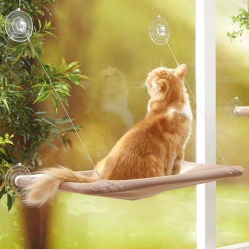 Cute Pet Hanging Beds Bearing 20kg Cat Sunny Seat Window Mount Pet Cat Hammock
