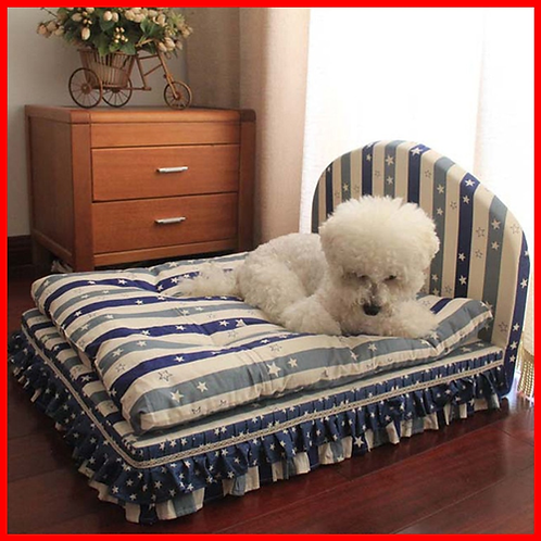 Luxury Princess Pet Bed With Pillow Blanket Dog Bed Cat Mat Sofa House Nest