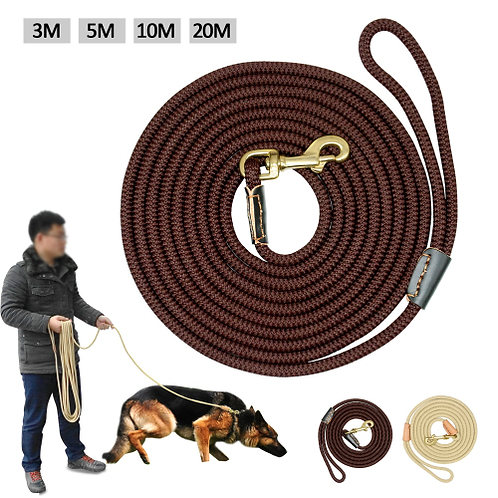Durable Dog Tracking Leash Nylon Long Leads Rope Pet Training Walking Leashes