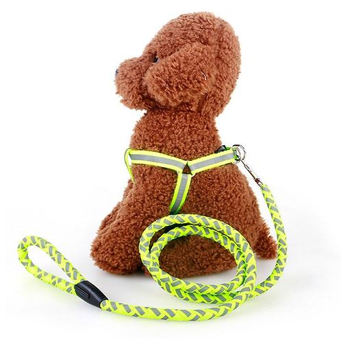 Dog Leash Light Reflective Pet Dog Traction Rope Luminous Dog Chest Strap Large