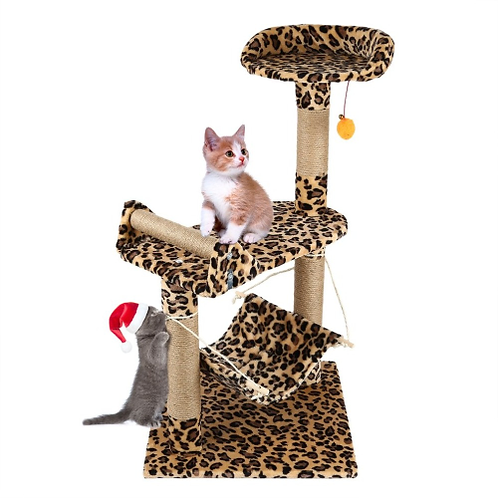 Pet Cat Tree Climbing Frame Toy Cat Scratching Posts Cat Scratch Board Jumping