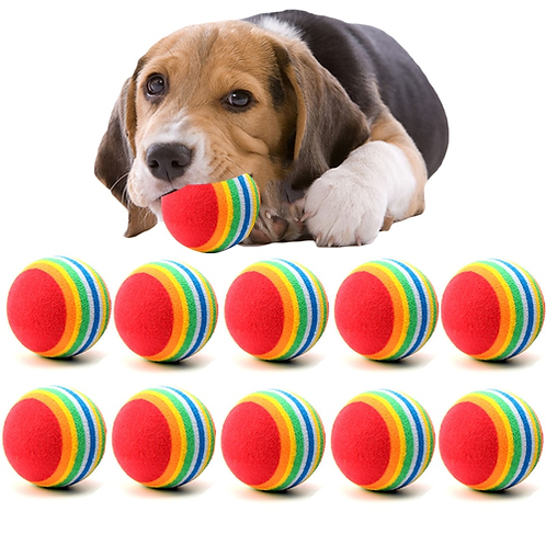 10PC/Lot Mini Small Dog Toys For Pets Dogs Chew Ball Puppy Dog Ball For Pet