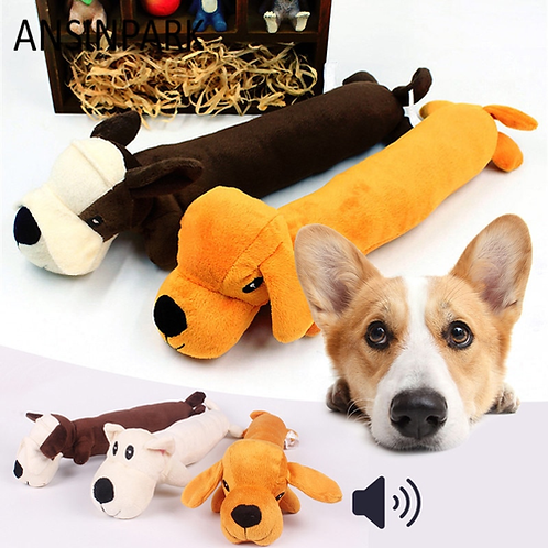 ANSINPARK animal chew toy dog toys cat vocalization in cloth dolls toy dick dog