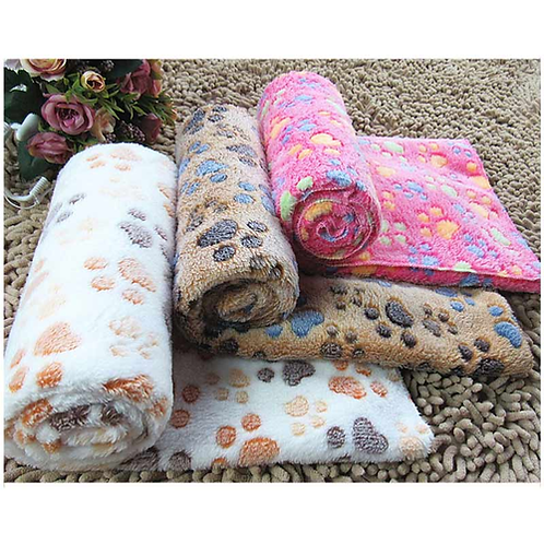 1PCS Pet Kennel Mat Thermal Blanket Dog Quilt Polka Dot Air Conditioning Blanket