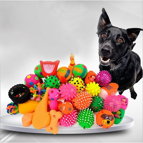 Dog Supplies Pet Dog Toy Puppy Cat Vinyl Ball Dog Squeaky Toy Quack Chew Sound