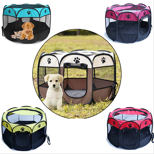 Portable Folding Pet Tent Dog House Cage Dog Cat Tent Playpen Puppy Kennel Easy