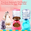 Thumbnail: 3.5L Large Automatic Pet Feeder Fountain Water Food Dispenser Capacity Waterer