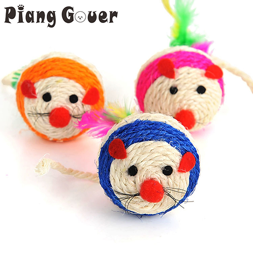 Pet Supplies Sisal Cute Mouse Chew Toys Mice Animal Cat Toys Play With Cats