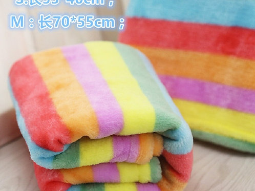 D59 Colorful Pet dogs cats Rainbow Fleece bed blanket Cute Super Warm Puppy dog
